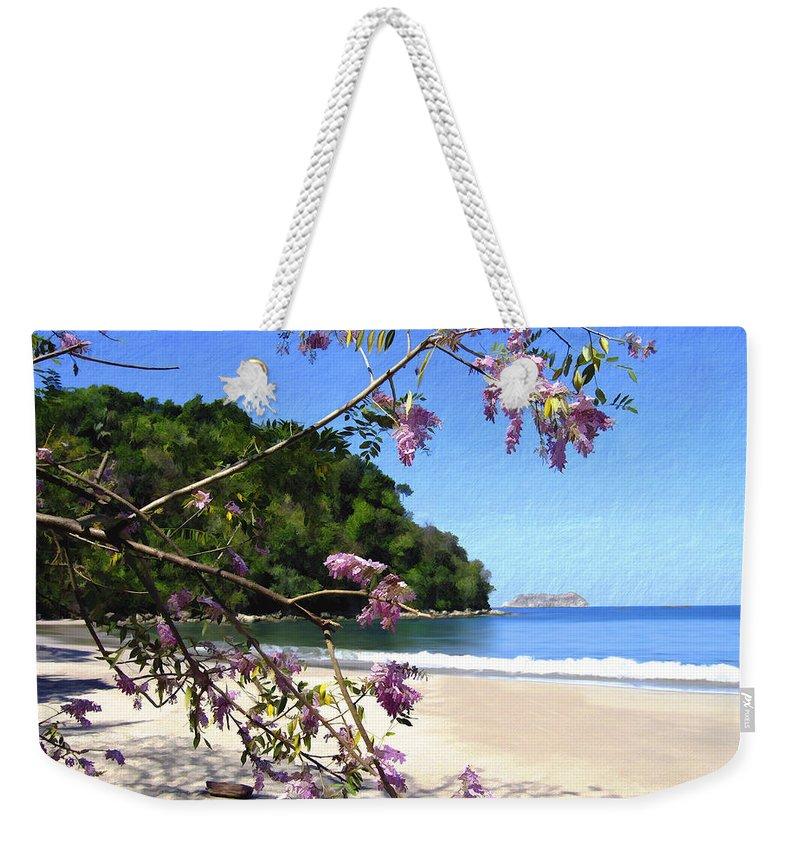 Beach Weekender Tote Bag featuring the photograph Playa Espadillia Sur Manuel Antonio National Park Costa Rica by Kurt Van Wagner
