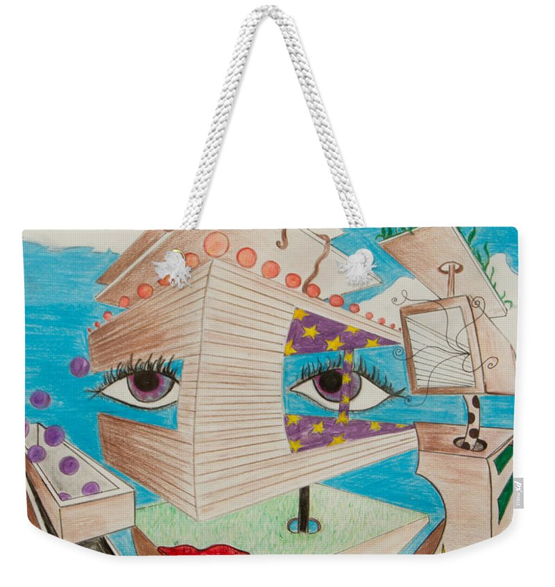 Dreamland Weekender Tote Bag featuring the painting Playground Dreams by Ryanne Bevenger
