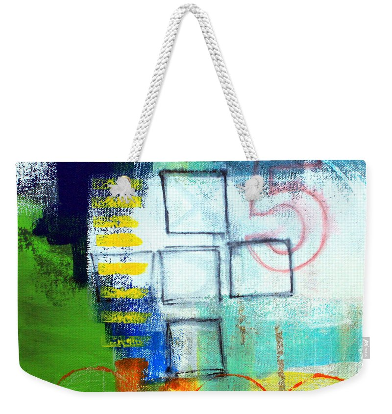 Abstract Weekender Tote Bag featuring the painting Playground by Linda Woods