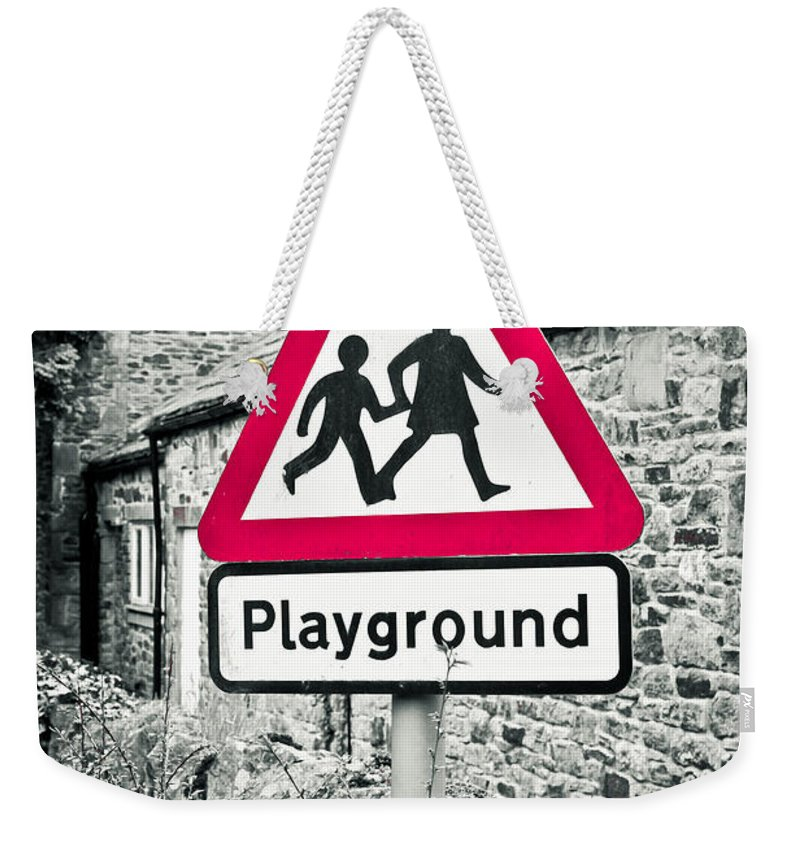 Attention Weekender Tote Bag featuring the photograph Playground by Tom Gowanlock