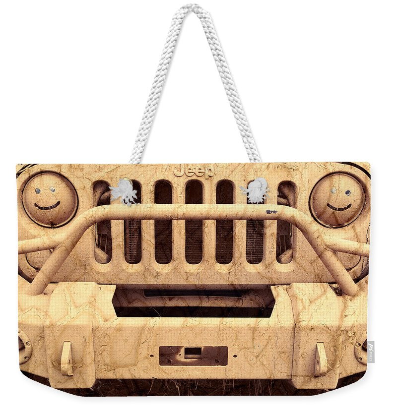 Jeep Weekender Tote Bag featuring the photograph Playing Dirty by Luke Moore
