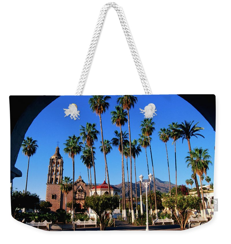 Arch Weekender Tote Bag featuring the photograph Plaza De Armas by John Elk