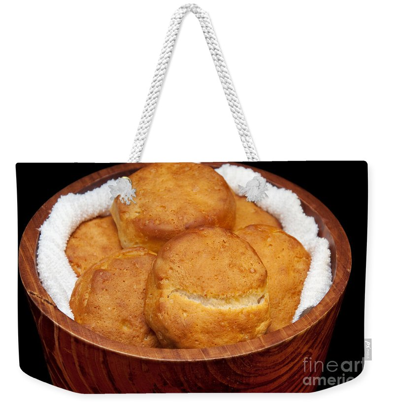 Biscuit Weekender Tote Bag featuring the photograph Please Pass The Biscuits by Andee Design