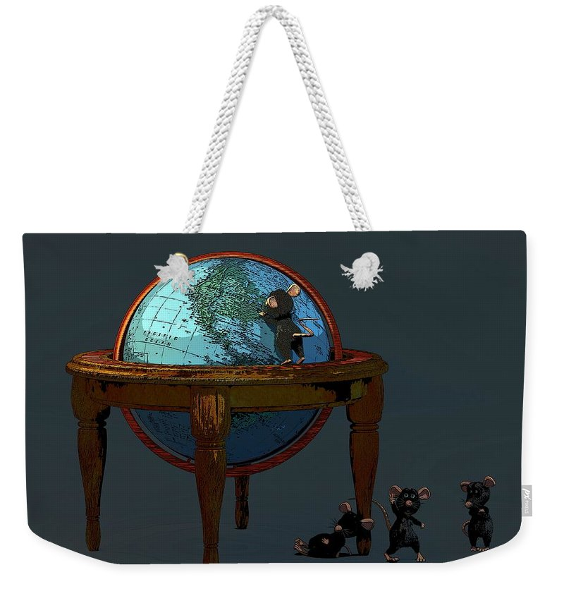 Toon Weekender Tote Bag featuring the digital art Plotting To Conquer The World... by Tim Fillingim