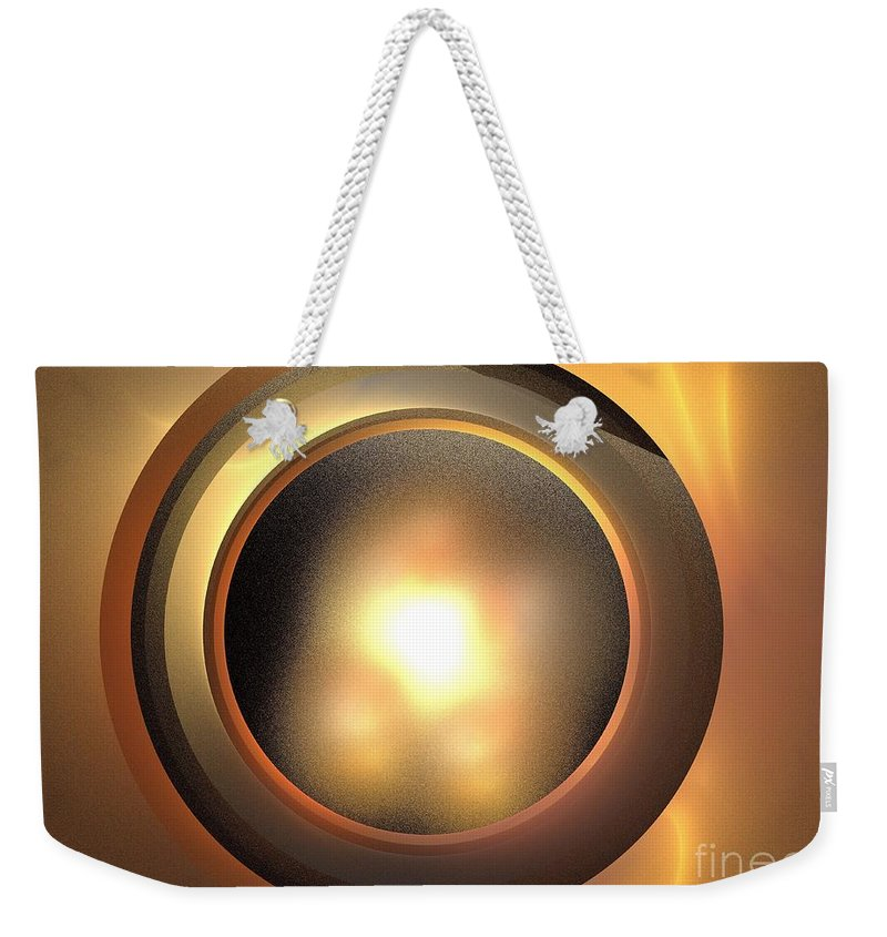 Apophysis Weekender Tote Bag featuring the digital art Plutoid by Kim Sy Ok