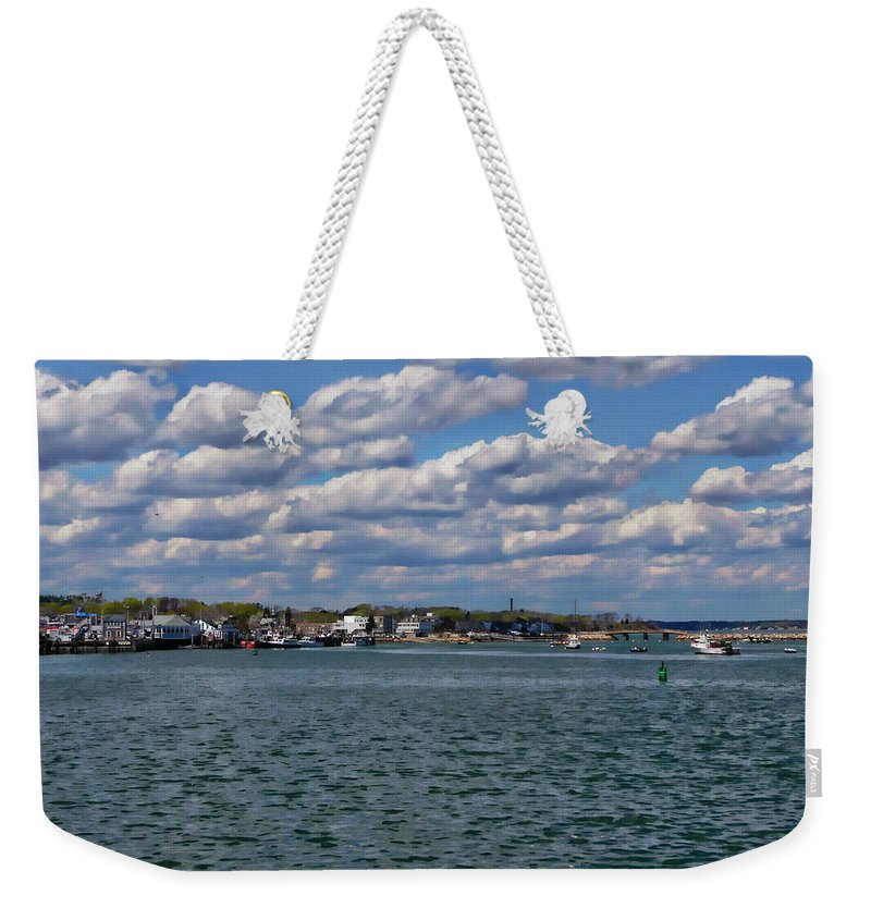 Bay Weekender Tote Bag featuring the photograph Plymouth Harbor by Anthony Dezenzio