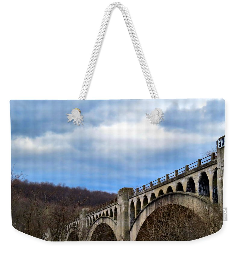 Bridge Weekender Tote Bag featuring the photograph Pocket Full Of Posies by Art Dingo