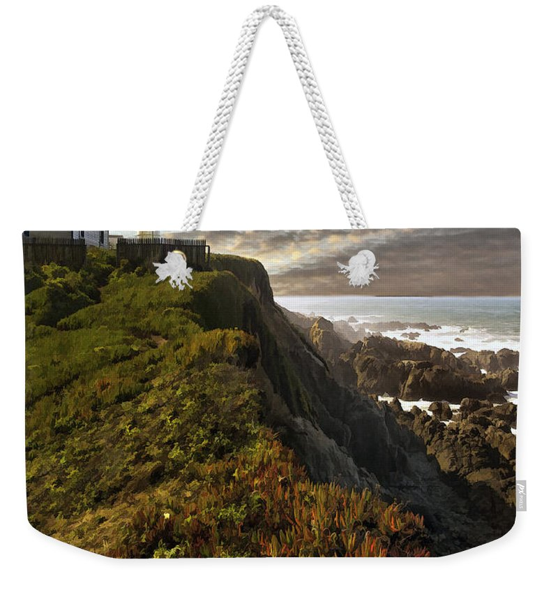 Seascape Weekender Tote Bag featuring the photograph Point Montara Light House II by Sharon Foster