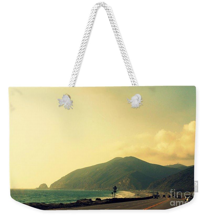 Point Mugu Weekender Tote Bag featuring the photograph Point Mugu In California by Susanne Van Hulst