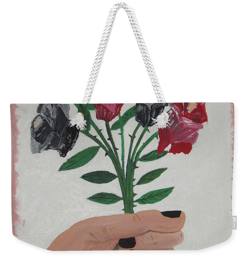 Painting Weekender Tote Bag featuring the painting Point Of Beauty by Dean Stephens