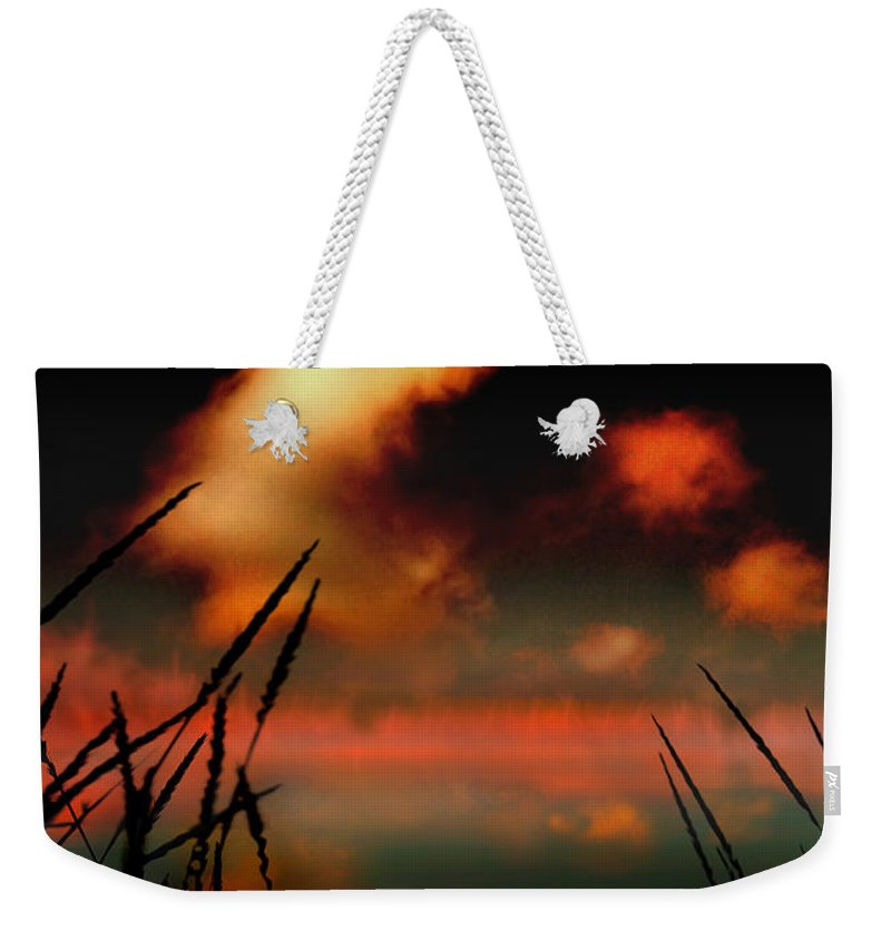 Landscape Weekender Tote Bag featuring the photograph Pointing At The Moon by Mal Bray