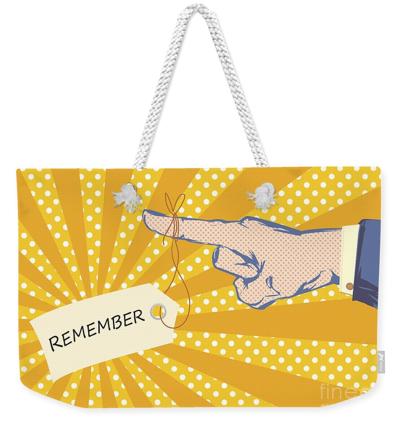 Business Weekender Tote Bag featuring the photograph Pointing Finger Pop Art Vector by Tim Hester