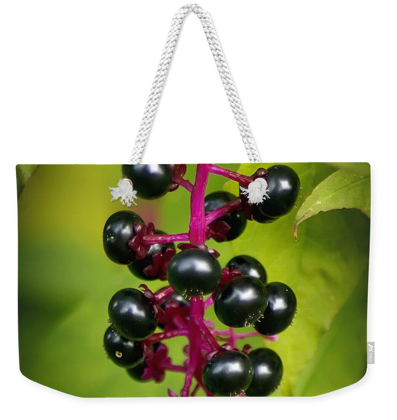 2d Weekender Tote Bag featuring the photograph Pokeweed by Brian Wallace