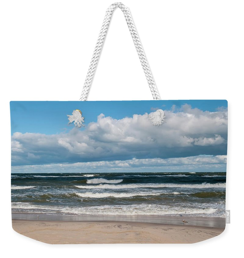 Water's Edge Weekender Tote Bag featuring the photograph Poland, View Of Baltic Sea In Autumn At by Westend61