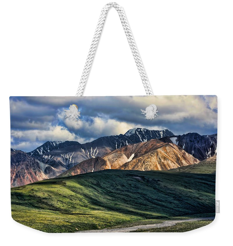 Polychrome Weekender Tote Bag featuring the photograph Polychrome Pass by Heather Applegate