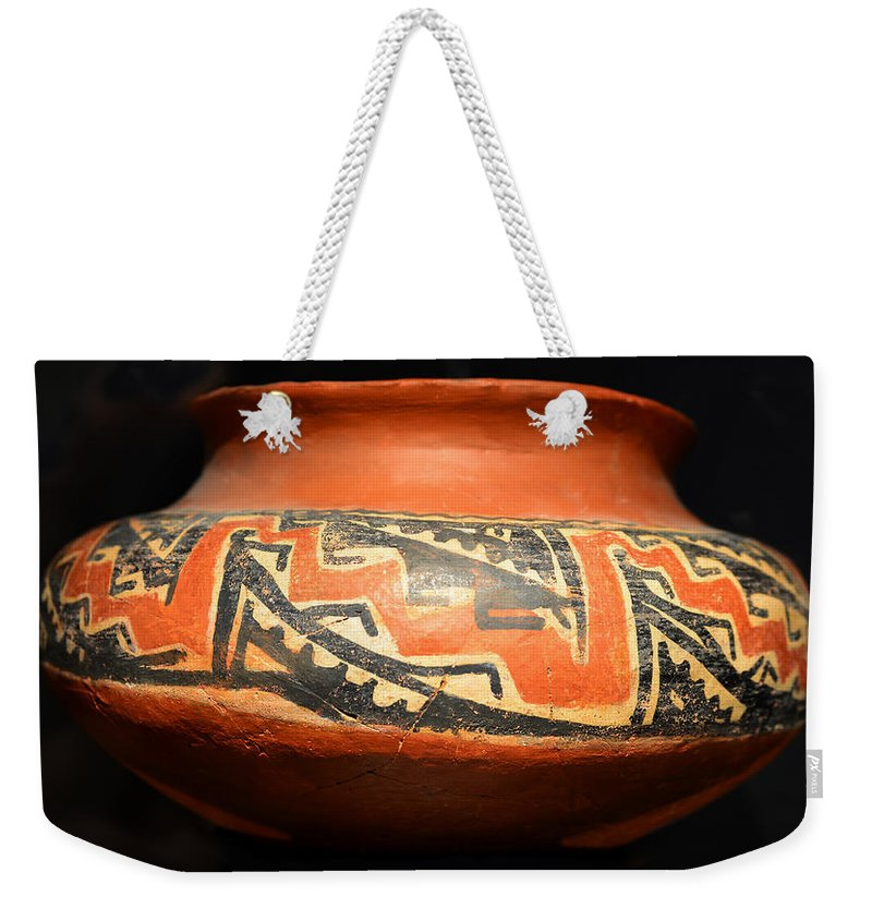 Polychrome Pot Weekender Tote Bag featuring the photograph Polychrome Pottery 1100 Ad by David Lee Thompson