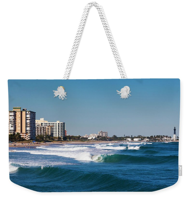 Tranquility Weekender Tote Bag featuring the photograph Pompano Beach, Florida, Exterior View by Walter Bibikow