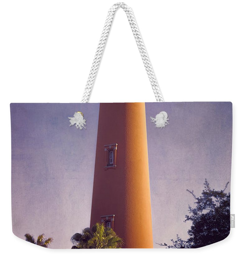 Joan Carroll Weekender Tote Bag featuring the photograph Ponce De Leon Lighthouse by Joan Carroll
