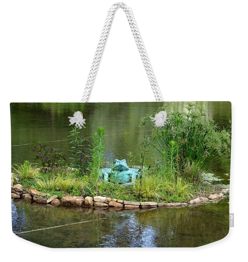 Pond Frog Weekender Tote Bag featuring the photograph Pond Frog by Maria Urso