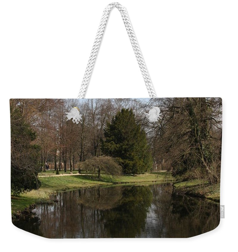 Pond Weekender Tote Bag featuring the photograph Pond In The Park by Christiane Schulze Art And Photography