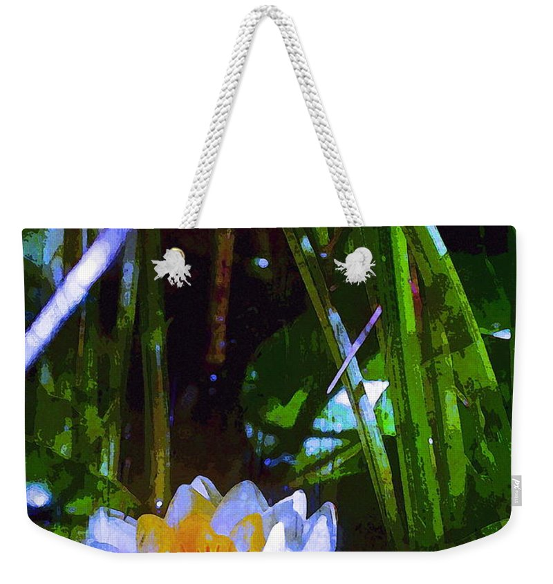 Floral Weekender Tote Bag featuring the photograph Pond Lily 28 by Pamela Cooper