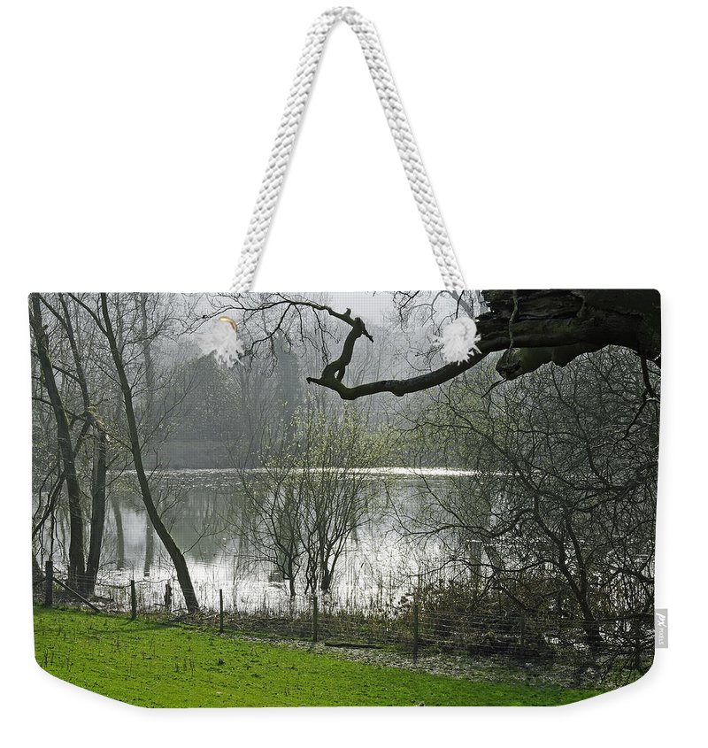 Bright Weekender Tote Bag featuring the photograph Pond Near Home Farm - Ilam by Rod Johnson