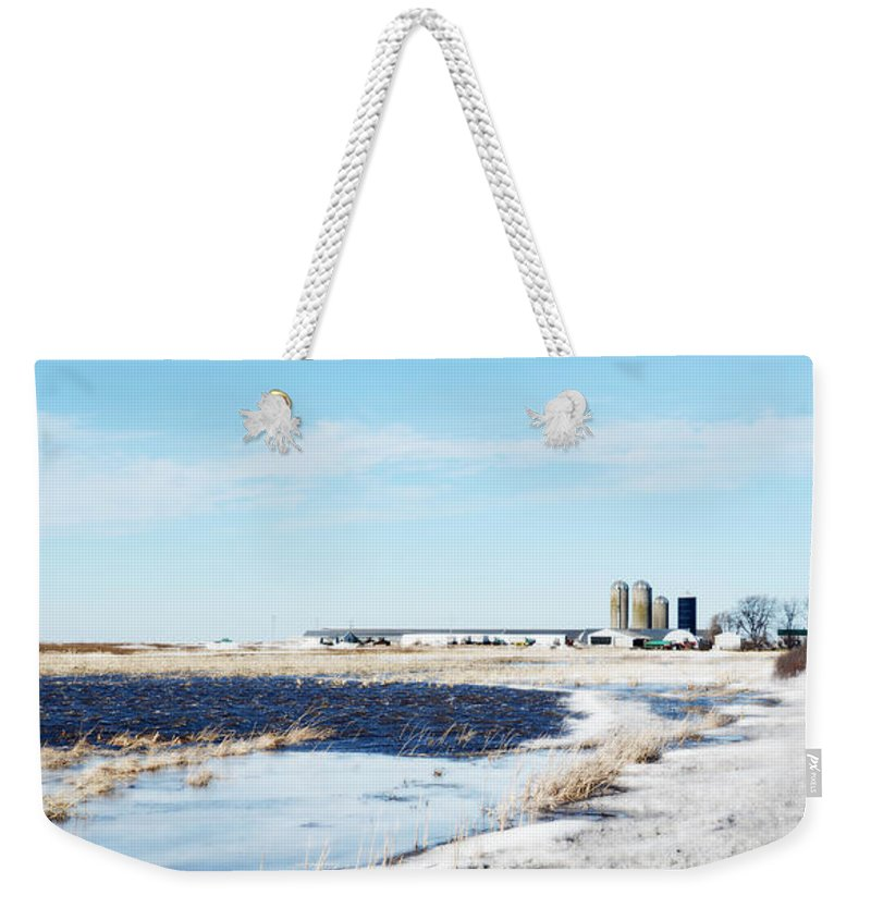 Pond Weekender Tote Bag featuring the photograph Pond Or Field by Tracy Winter