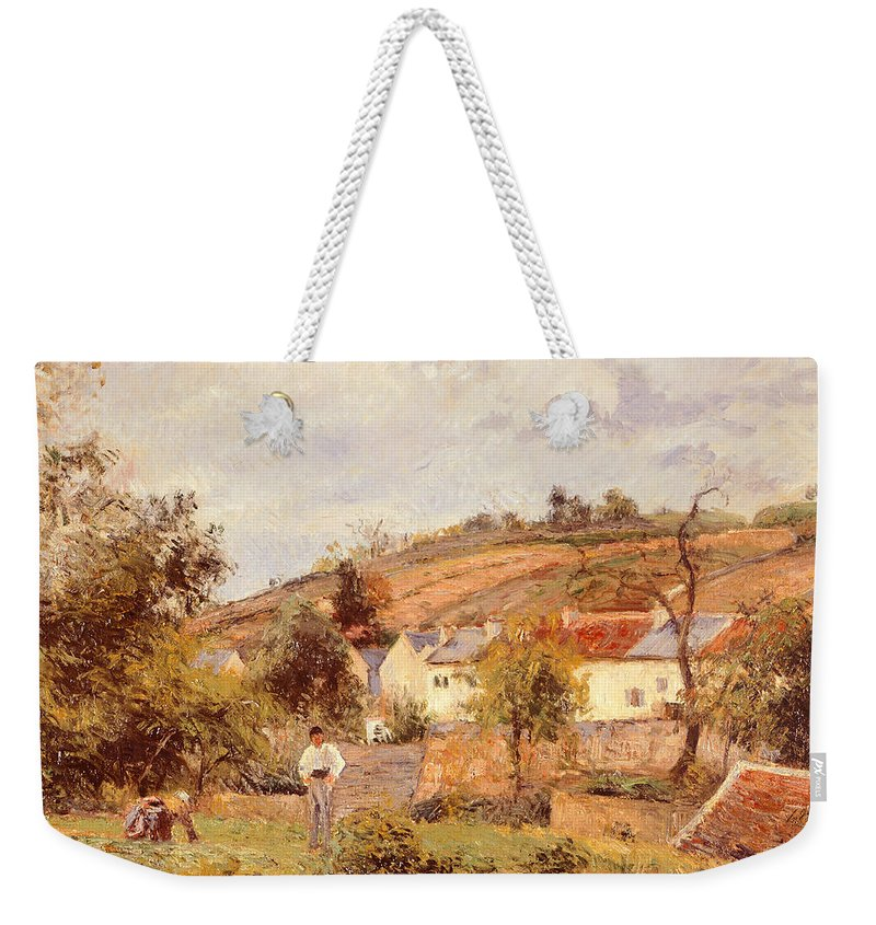 Art Weekender Tote Bag featuring the painting Pontoise by Camille Pissarro