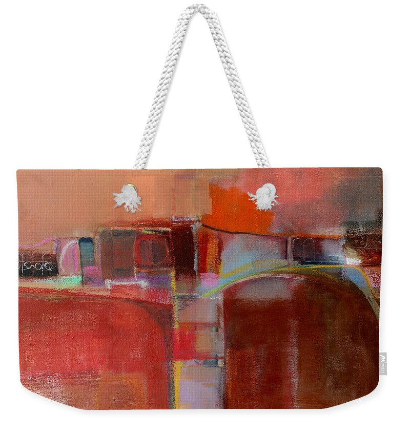 Abstract Weekender Tote Bag featuring the painting Pont Des Arts by Michelle Abrams