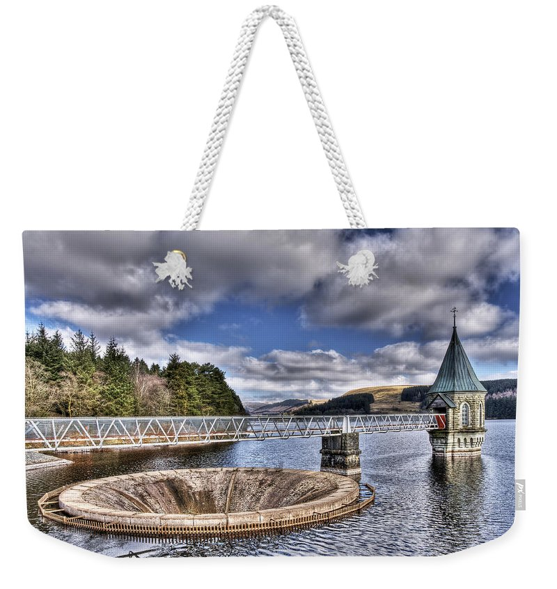 The Valve Tower Weekender Tote Bag featuring the photograph Pontsticill Reservoir 2 by Steve Purnell