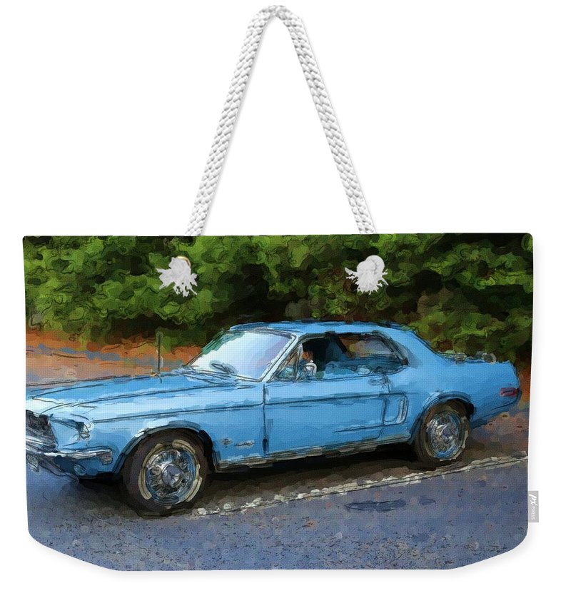 Pony Blue Weekender Tote Bag featuring the photograph Pony Blue by Karol Livote