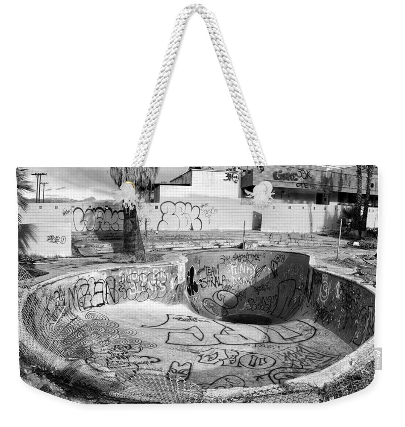 Pool Weekender Tote Bag featuring the photograph Pool At The North Shore Yacht Club by Dominic Piperata