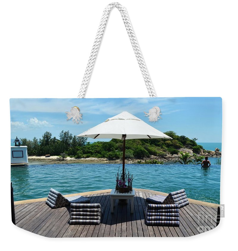 Michelle Meenawong Weekender Tote Bag featuring the photograph Pool by Michelle Meenawong