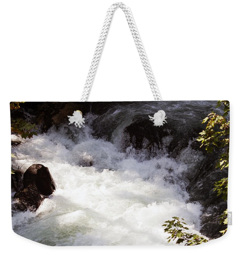 Washington Weekender Tote Bag featuring the photograph Pooling White Water by Edward Hawkins II