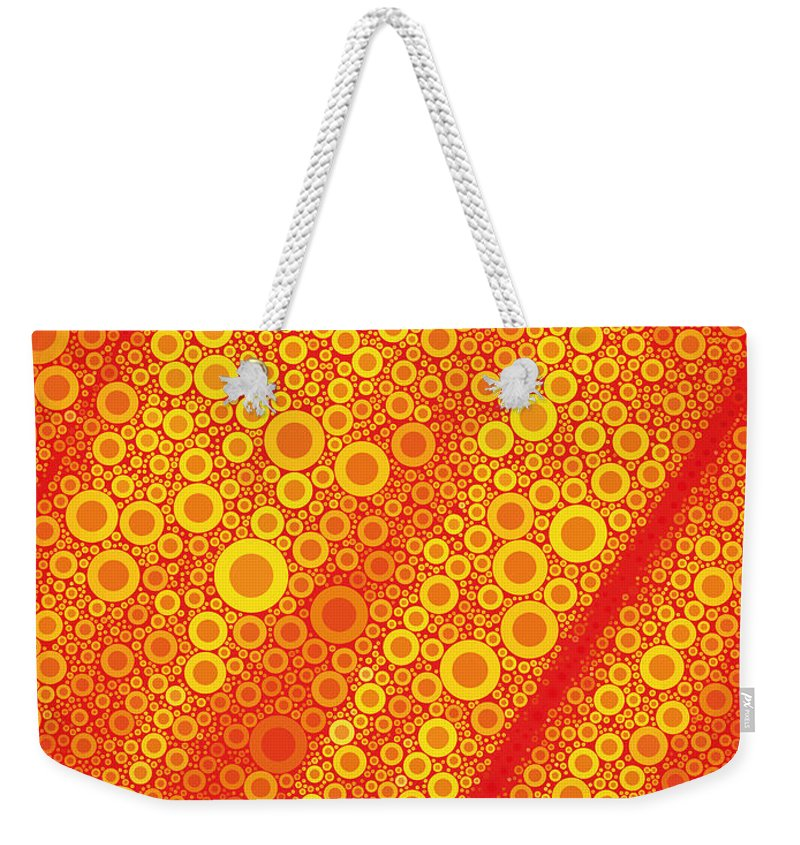 Bubble Weekender Tote Bag featuring the digital art Pop-13-a by RochVanh