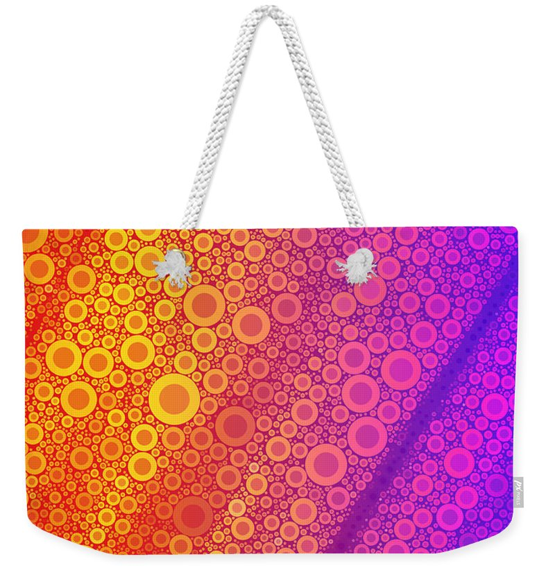 Bubble Weekender Tote Bag featuring the digital art Pop-13-b by RochVanh