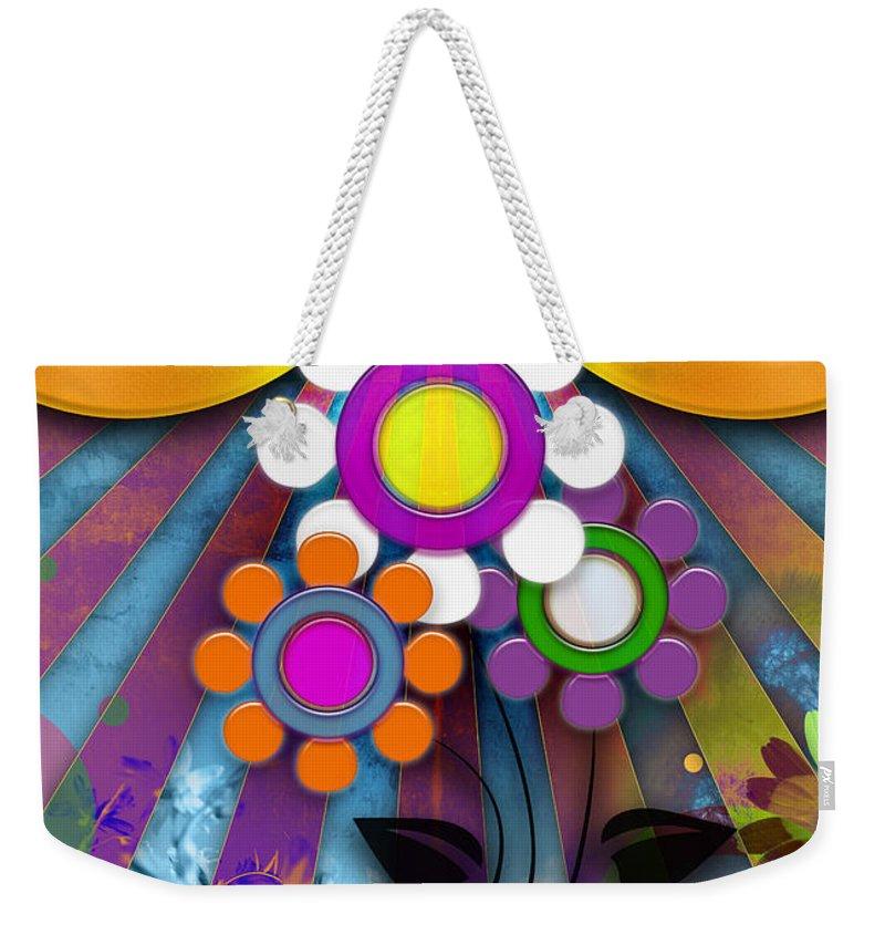 Abstrakt Weekender Tote Bag featuring the photograph Pop Art Flower by ARTSHOT - Photographic Art