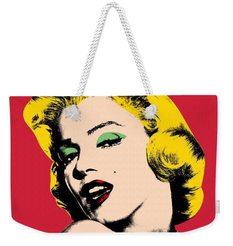 Pop Art Weekender Tote Bag featuring the painting Pop Art by Mark Ashkenazi
