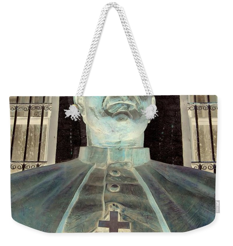 Pop Art Weekender Tote Bag featuring the photograph Pope John Paul The Second by Ed Weidman