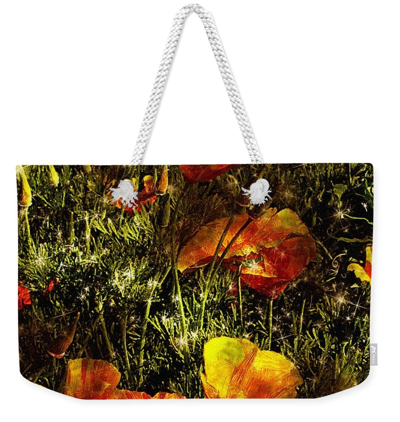 Poppies Weekender Tote Bag featuring the painting Poppies Will Make Them Sleep by RC DeWinter