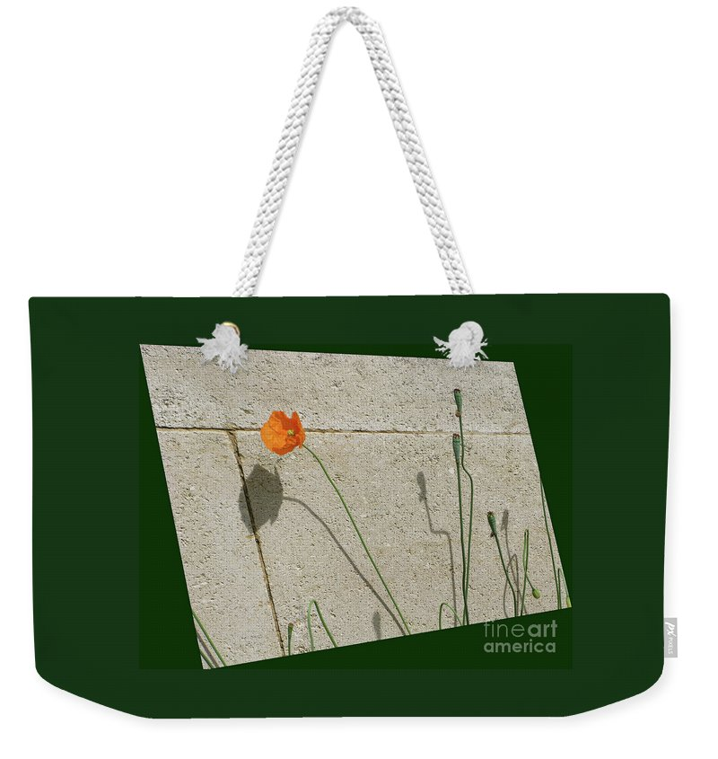 Poppy Weekender Tote Bag featuring the photograph Poppy by Ann Horn