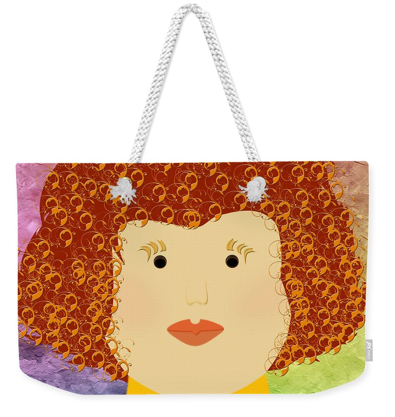 Andee Design Weekender Tote Bag featuring the digital art Porcelain Doll 12 by Andee Design