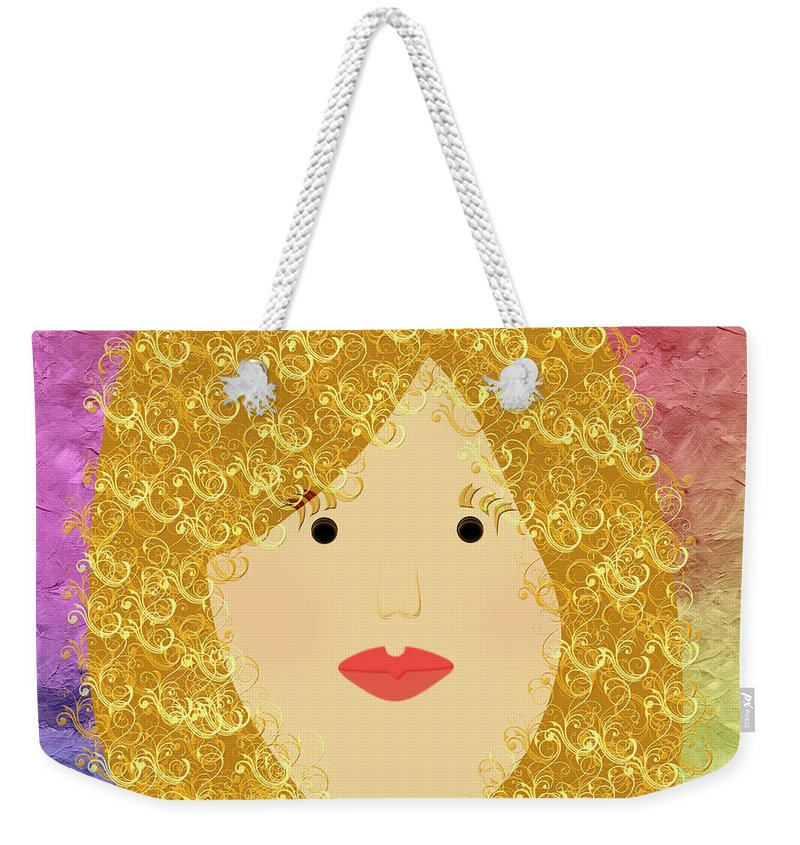 Andee Design Weekender Tote Bag featuring the digital art Porcelain Doll 17 by Andee Design