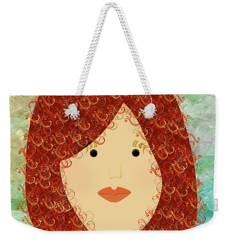 Andee Design Weekender Tote Bag featuring the digital art Porcelain Doll 19 by Andee Design