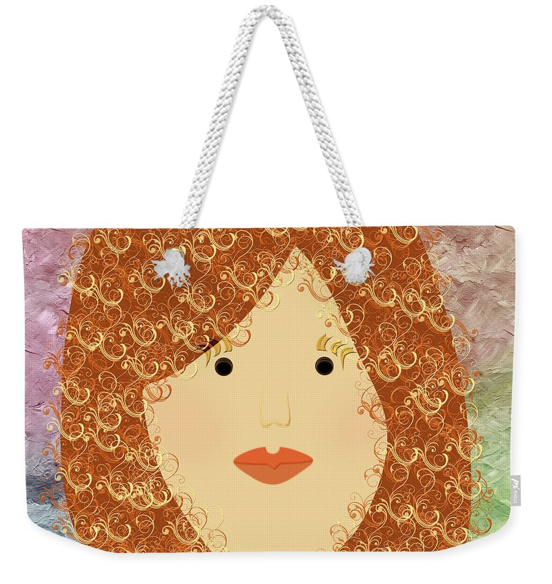 Andee Design Weekender Tote Bag featuring the digital art Porcelain Doll 20 by Andee Design