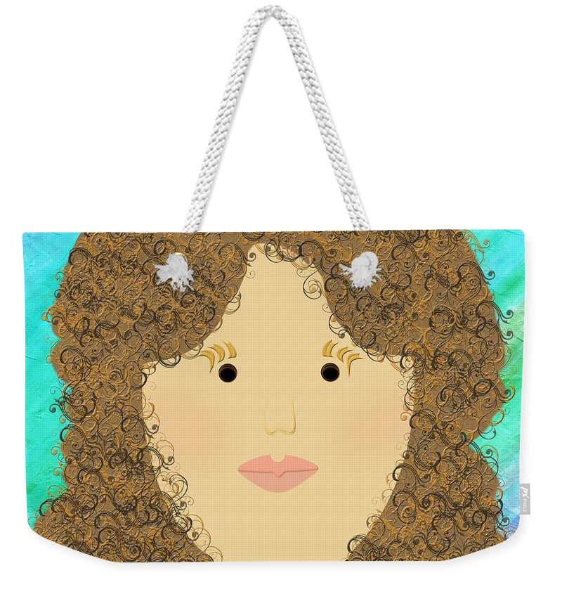 Andee Design Weekender Tote Bag featuring the digital art Porcelain Doll 3 by Andee Design