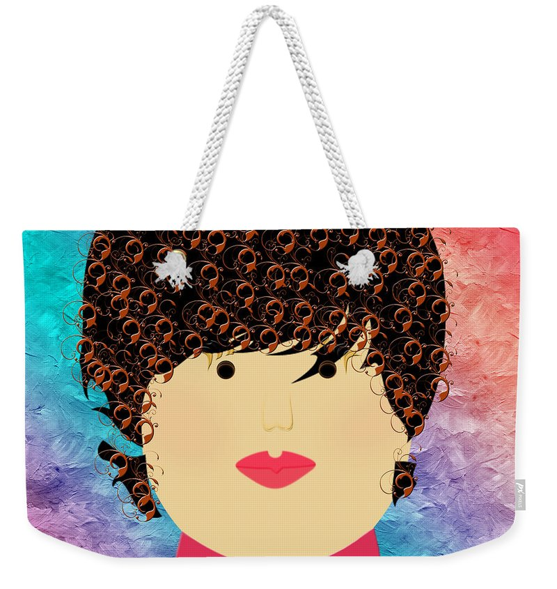 Andee Design Weekender Tote Bag featuring the digital art Porcelain Doll 5 by Andee Design