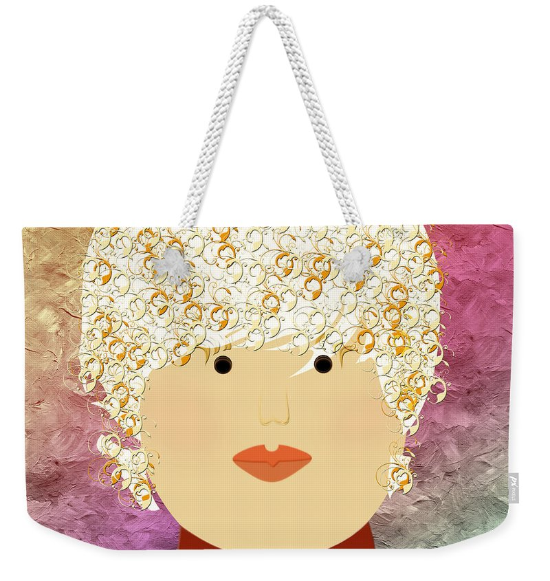 Andee Design Weekender Tote Bag featuring the digital art Porcelain Doll 8 by Andee Design