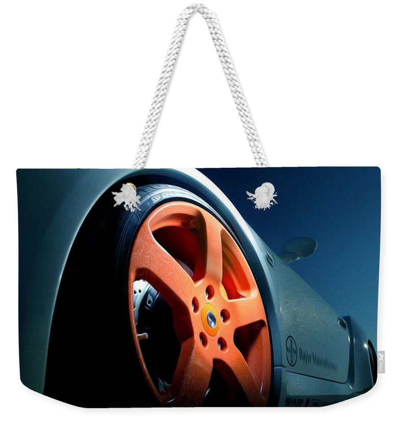 911 Carrera Weekender Tote Bag featuring the painting Porsche 5 by Jeelan Clark
