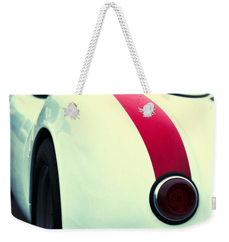 Amls Weekender Tote Bag featuring the photograph Porsche 550 by Scott Wyatt